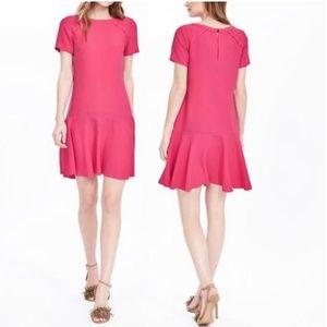 Banana Republic Flounce Mini Dress Size 0 Pink